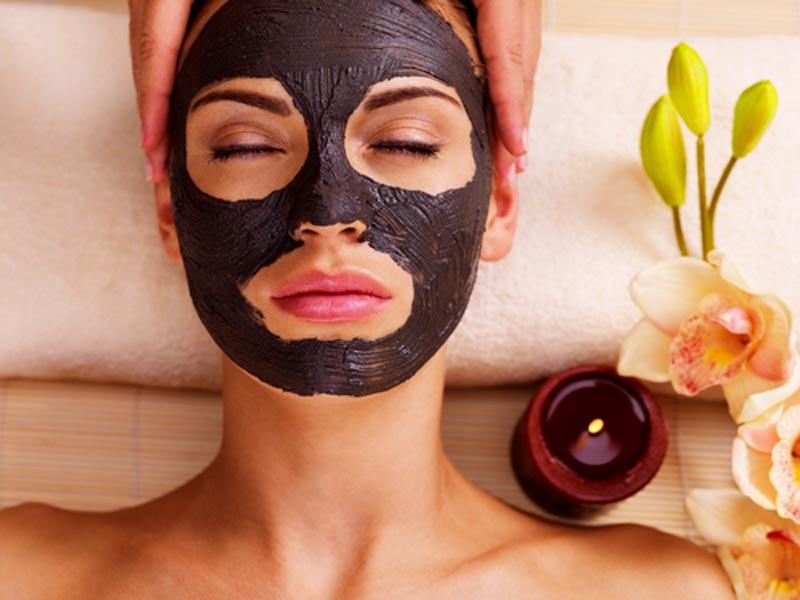 lady having facial mask