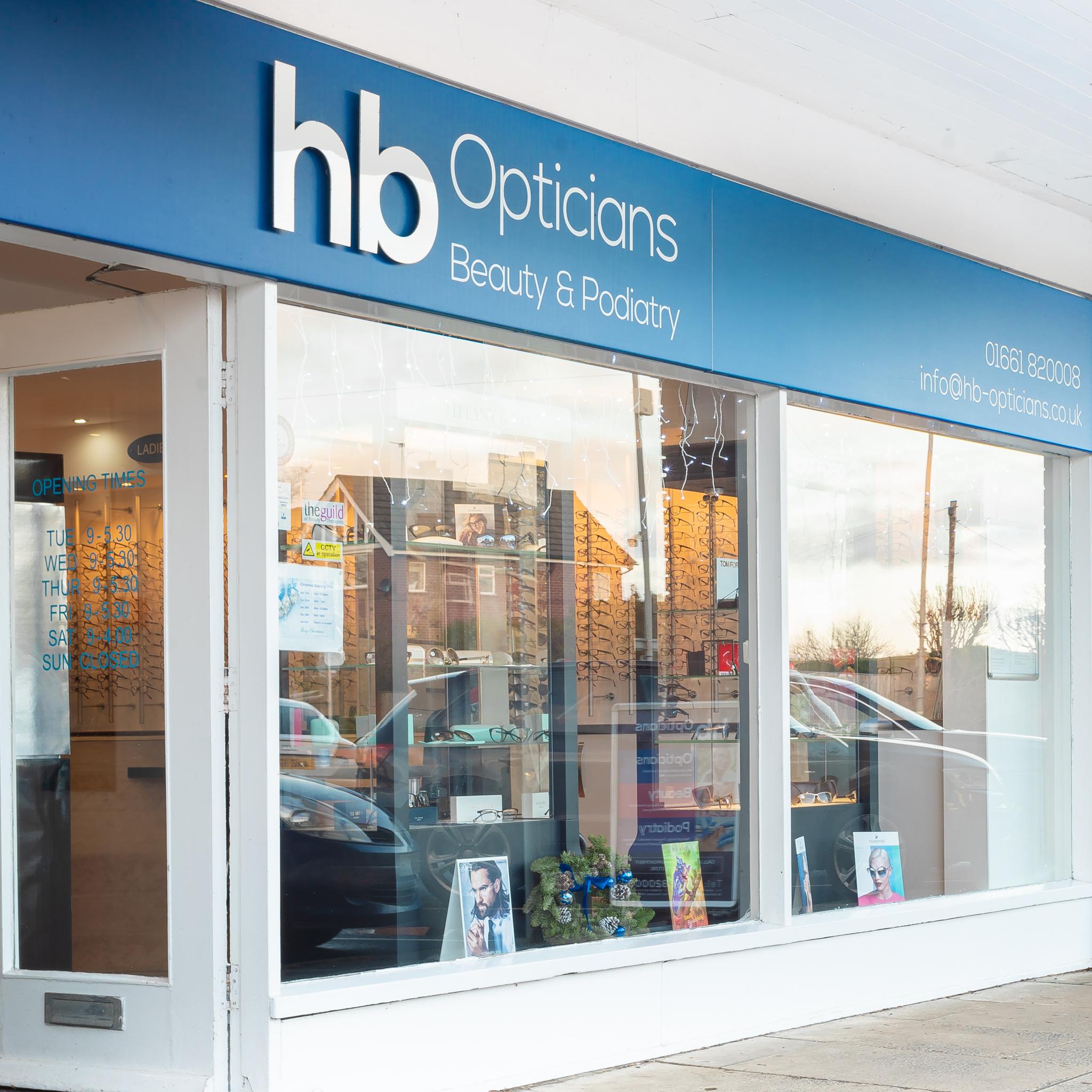 hb opticians shop front