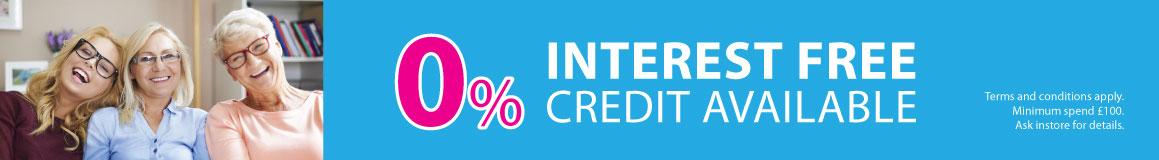 0% interest free banner