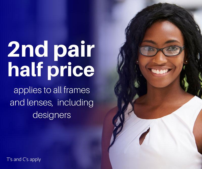2nd pair half price banner