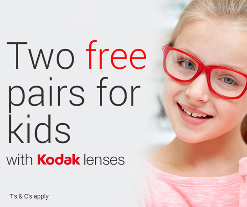 two free pairs for kids banner