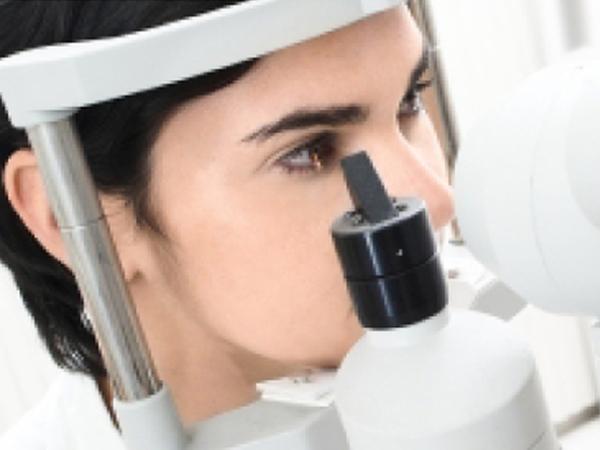 NHS patients having eyes checkup